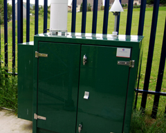 photograph of monitoring station: Cwm Level Park Ozone and NOx - illustrative purposes only